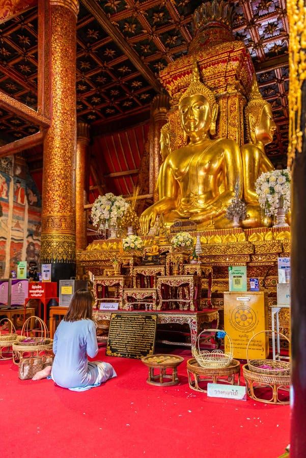 Wat Phumin ou Phu Min Temple, le temple antique célèbre dans la province de Nan, partie nord de la Thaïlande image libre de droits