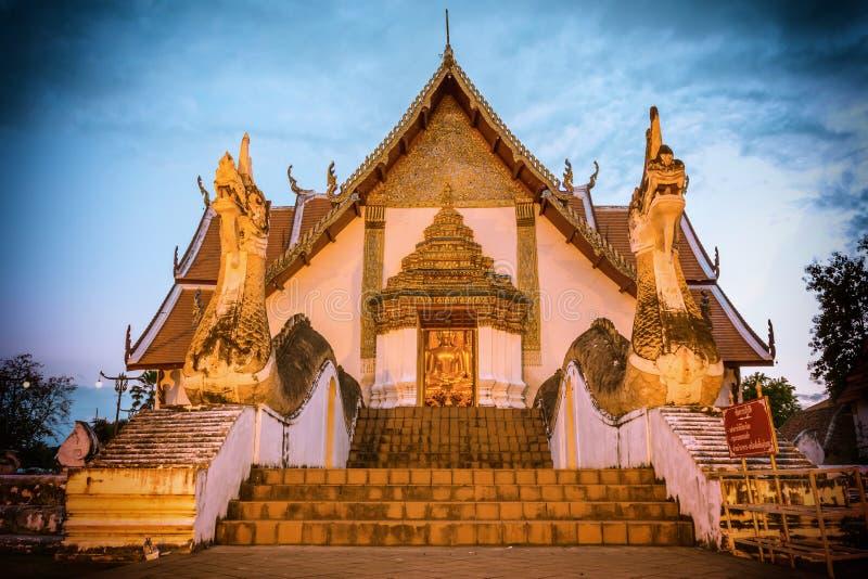Wat Phumin ou Wat Phumin Temple Attractions de Nan Province, Thaïlande photo libre de droits