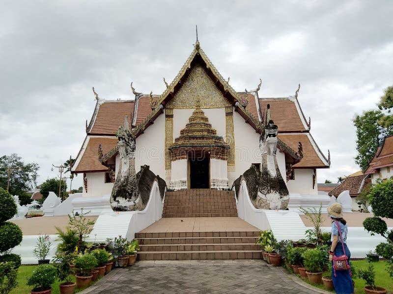Wat Phumin på Nan i Thailand mest sikt royaltyfri bild