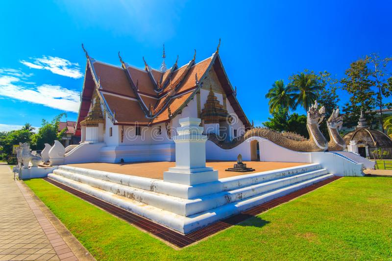 Wat Phumin is a unique thai traditional temple with Lanna style northen of thailand. Nan province, Thailand royalty free stock photos