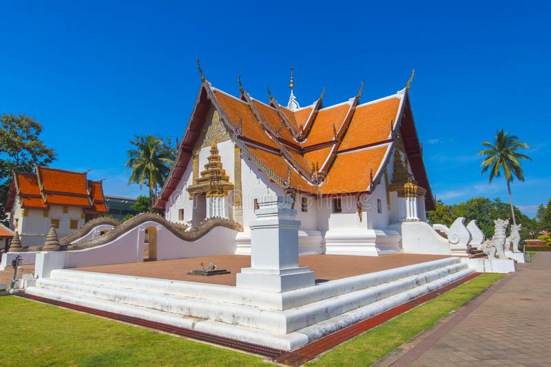 Wat Phumin is a unique thai traditional temple with Lanna style northen of thailand. Nan province, Thailand stock photos