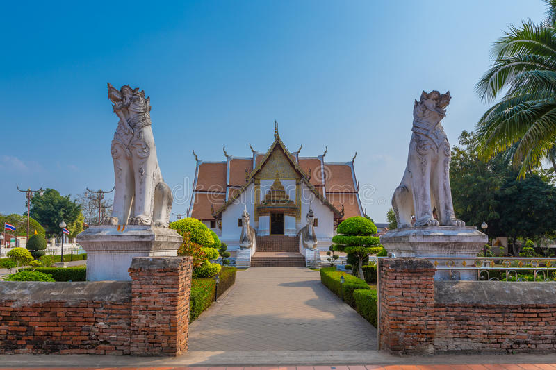 Wat Phumin is a unique thai traditional Temple of Nan province. Thailand royalty free stock photo