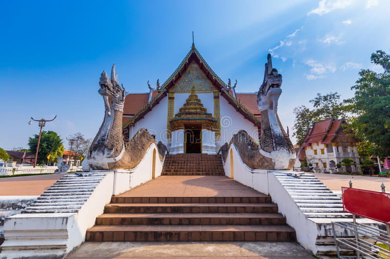 Wat Phumin is a unique thai traditional Temple of Nan province ,. Thailand royalty free stock images