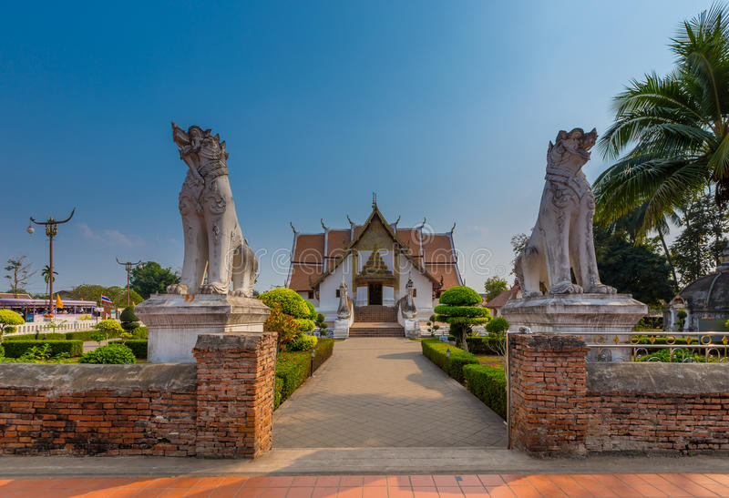 Wat Phumin is a unique thai traditional Temple of Nan province ,. Thailand royalty free stock photos