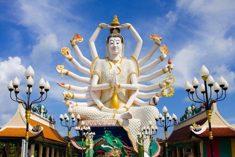 Wat Plai Laem temple Samui stock image