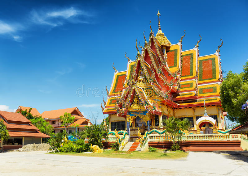 Wat Plai Laem temple in Samui Island, Thailand.  stock photos