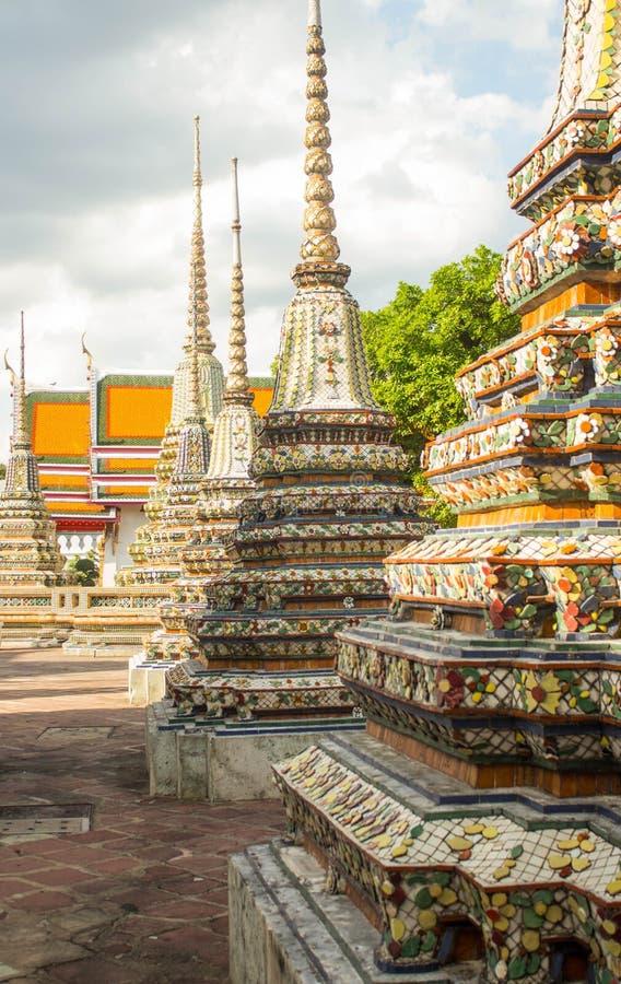 Wat Po,斜倚的菩萨,曼谷, Thailandia-4寺庙  库存图片