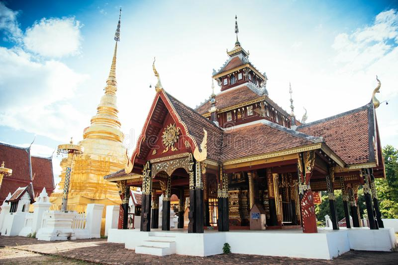 Wat-pong sanook, Tempel lizenzfreie stockfotografie