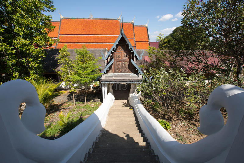 Wat PongSanuk em Lampang, Tailândia foto de stock
