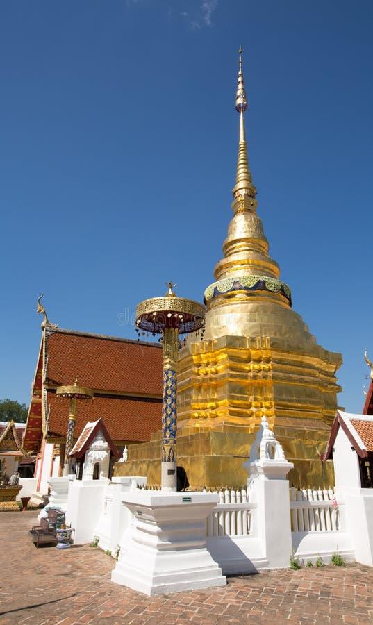 Wat PongSanuk at Lampang, Thailand stock photography