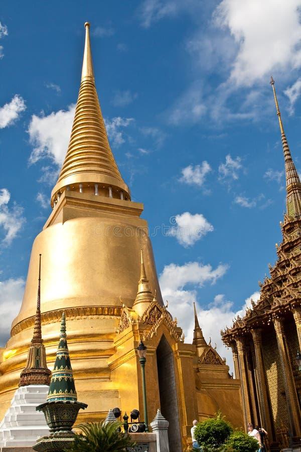Wat Pra Kaeo Golden Pagoda stock photos