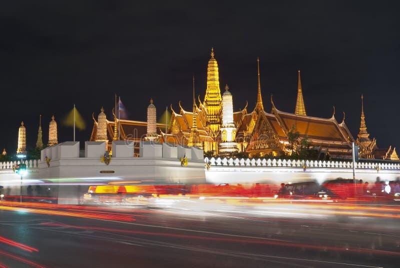 Wat pra kaew Grand palace at night,Bangkok royalty free stock photo