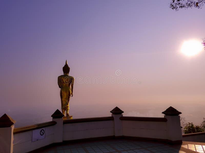 Wat Pra That Khao Noi på det Nan landskapet, Thailand arkivbilder