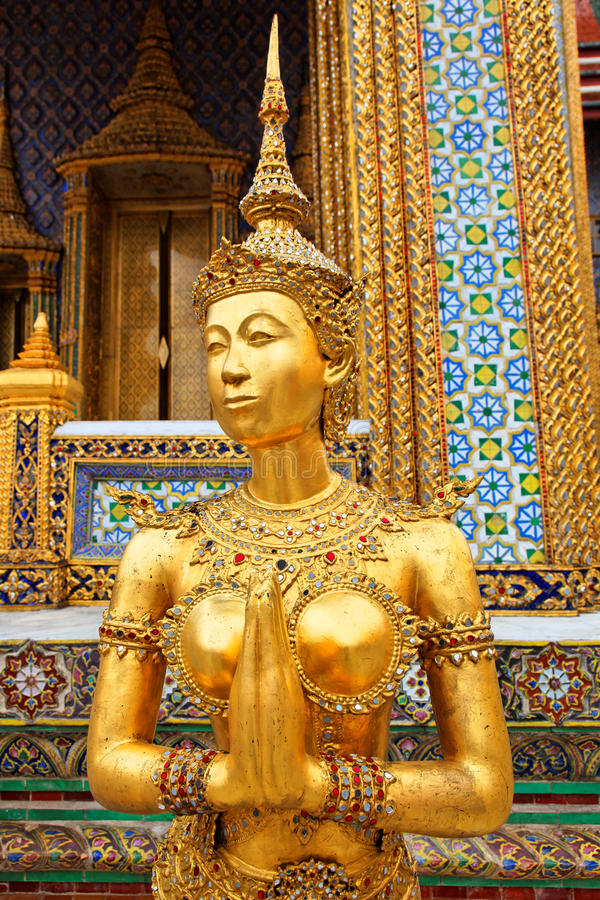 Wat praGaew, Uroczysty Pałac - Bangkok, Tajlandia obraz stock