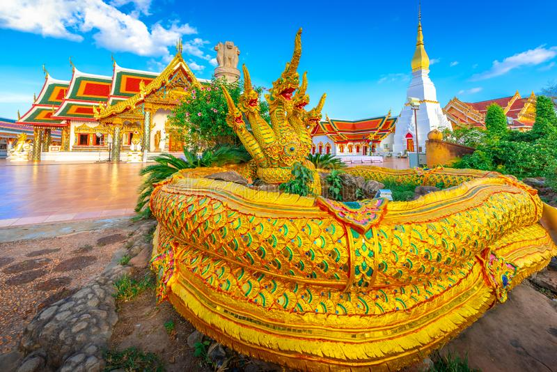 Wat Pratat Choeng Chum temple. the landmark of SAKON NAKHON ,Thailand.  royalty free stock photos
