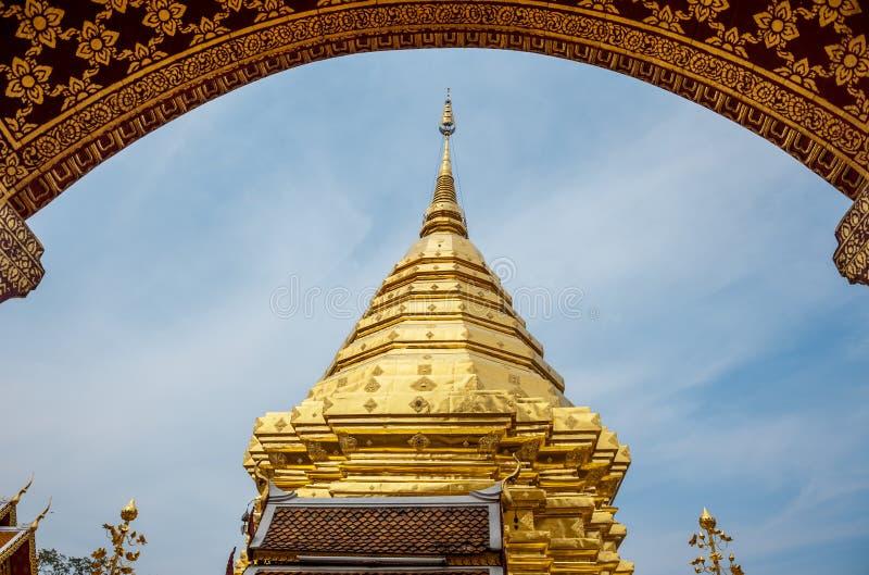 Wat Prathat Doi Suthep, Chiang Mai, Tailândia imagem de stock royalty free