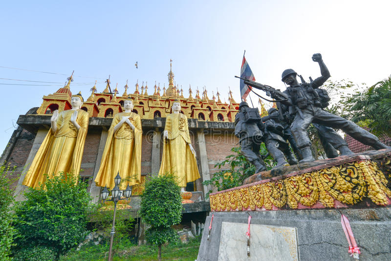 Wat Prathatsuthone Phare thailand. North thailand stock photography