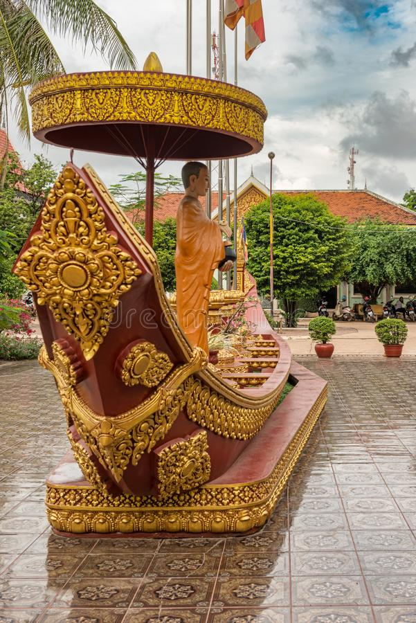 Wat Preah Prom Rath-de tempel complex in Siem oogst, Kambodja stock foto