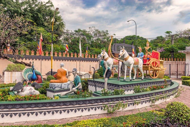 Wat Preah Prom Rath-de tempel complex in Siem oogst, Kambodja stock fotografie