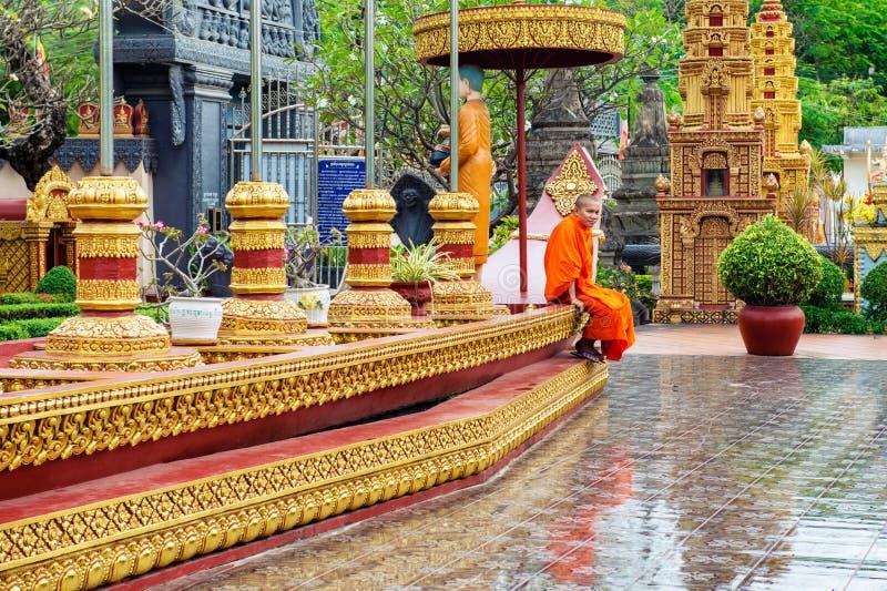 Wat Preah Prom Rath-de tempel complex in Siem oogst, Kambodja royalty-vrije stock afbeeldingen
