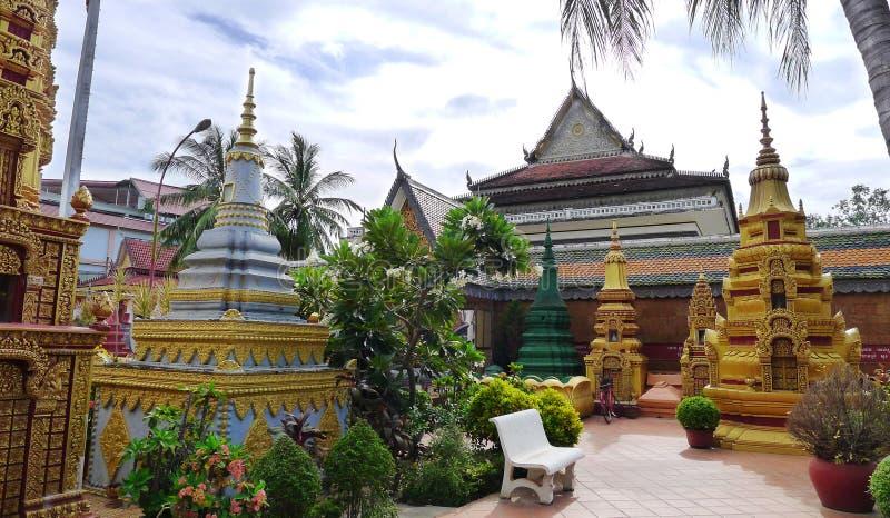 Wat Preah Prom Rath-pagode stock foto's