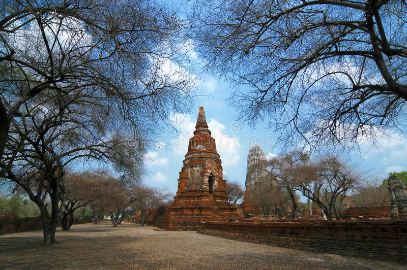 Wat Racha Burana, Ayudhya-Provincie, Thailand royalty-vrije stock fotografie