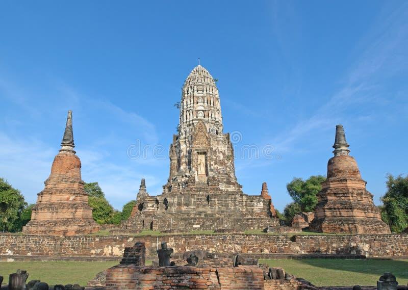 Wat Ratburana, Ayutthaya, Ταϊλάνδη στοκ φωτογραφία με δικαίωμα ελεύθερης χρήσης