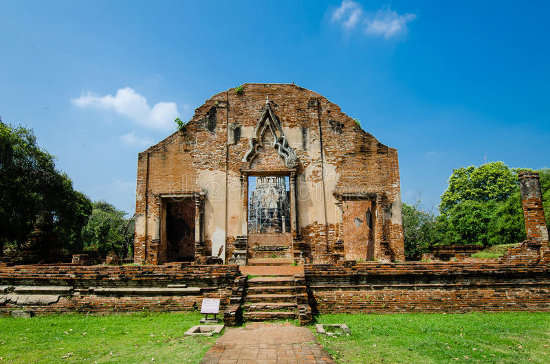 Download Wat Ratburana, Ayutthaya, Thailand Arkivfoto - Bild av historia, lopp: 27275960