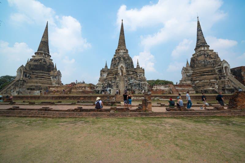 Wat Ratchaburana imagenes de archivo