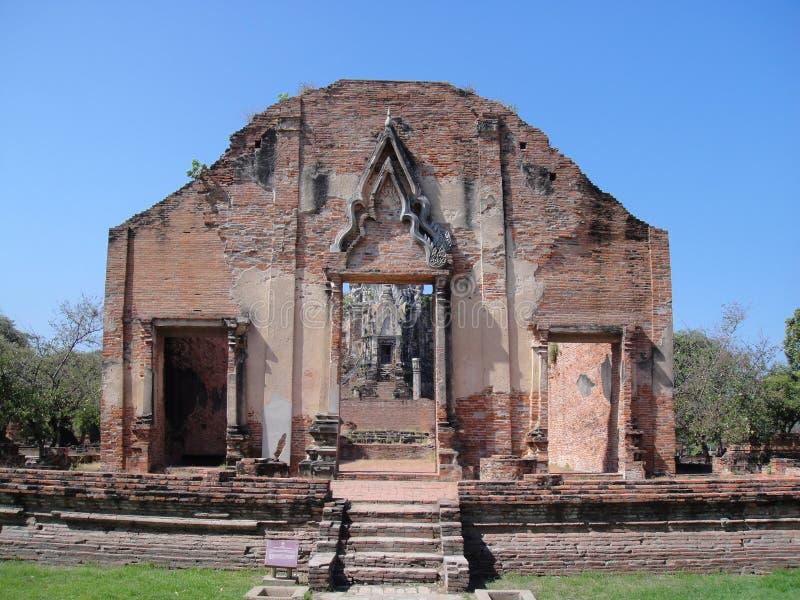 Wat Ratchaburana, Ayutthaya foto de stock royalty free