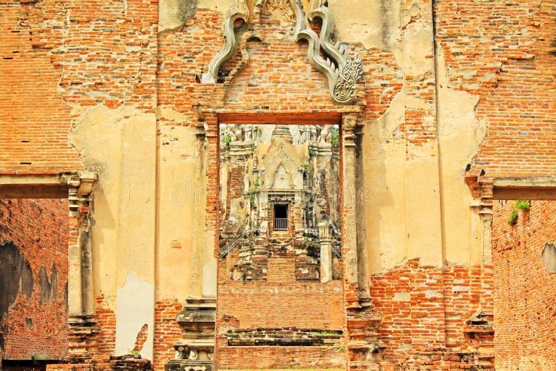 Wat Ratchaburana, Ayutthaya, Thaïlande photographie stock libre de droits