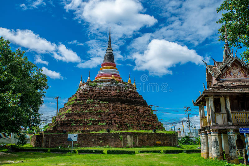 Wat Ratchaburana Phitsanulok. Temple in Thailand is named Wat Ratchaburana,Phitsanulok stock photo