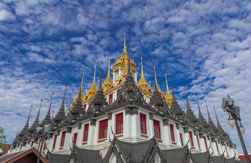Wat Ratchanaddaram and Loha Prasat Metal Palace in Bangkok ,Thailand stock photo