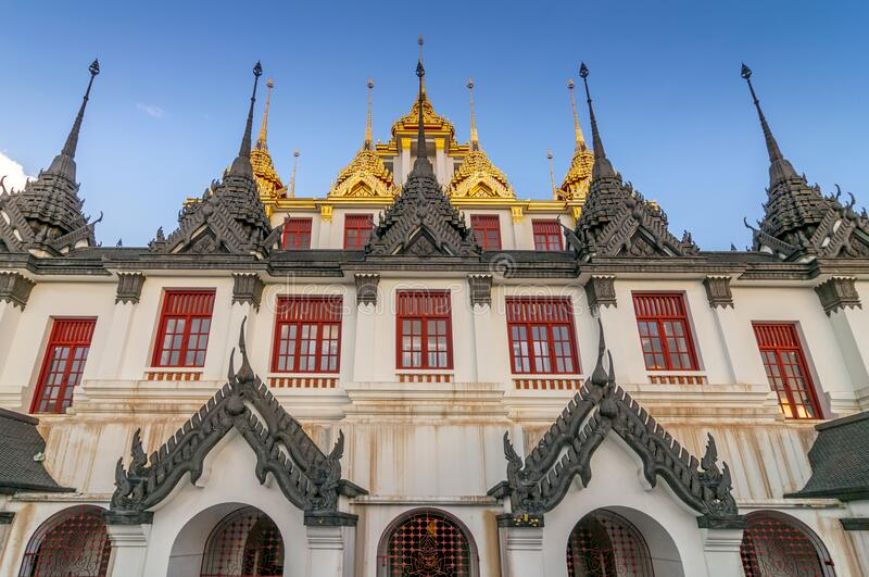 Wat Ratchanatdaram Metal Temple in Bangkok, Thailand.  royalty free stock photo