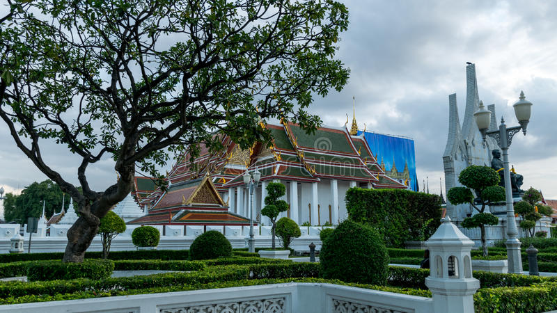 Wat Ratchanatdaram Worawihan, Bangkok, Thaïlande images stock