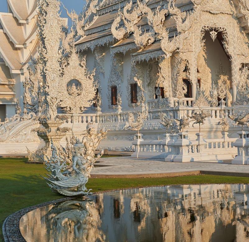 Wat Rong Khun, Chiangrai,泰国 免版税库存图片