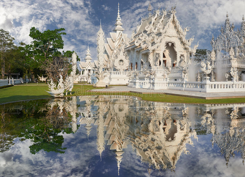 Wat Rong Khun, Chiangrai,泰国 图库摄影