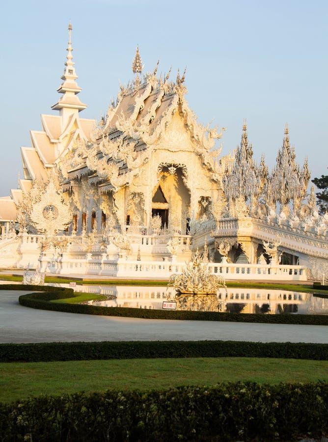 Wat Rong Khun, άσπρος ναός στοκ φωτογραφίες