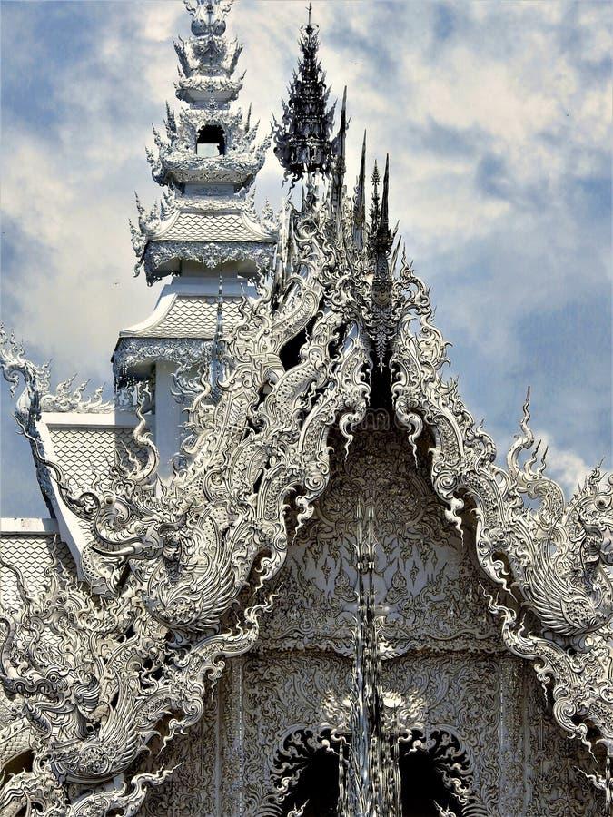 Wat Rong Khun - The White Temple at Chiang Rai, Thailand royalty free stock images
