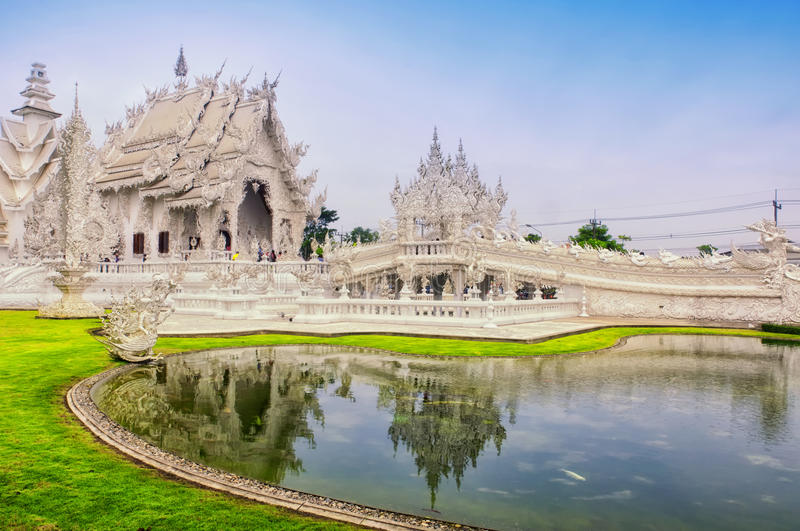 Wat Rong Khun. The Buddhist Wat Rong Khun or white temple in Chiang Rai northern Thailand stock photography