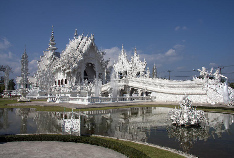 Wat Rong Khun, Chiang Rai, obraz royalty free