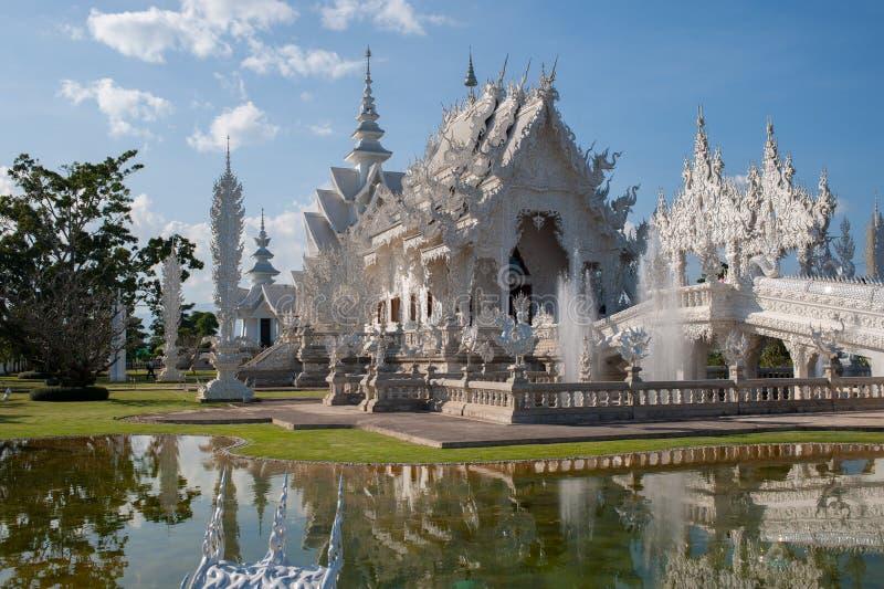 Wat Rong Khun in Chiang Rai, Thailand stock afbeeldingen