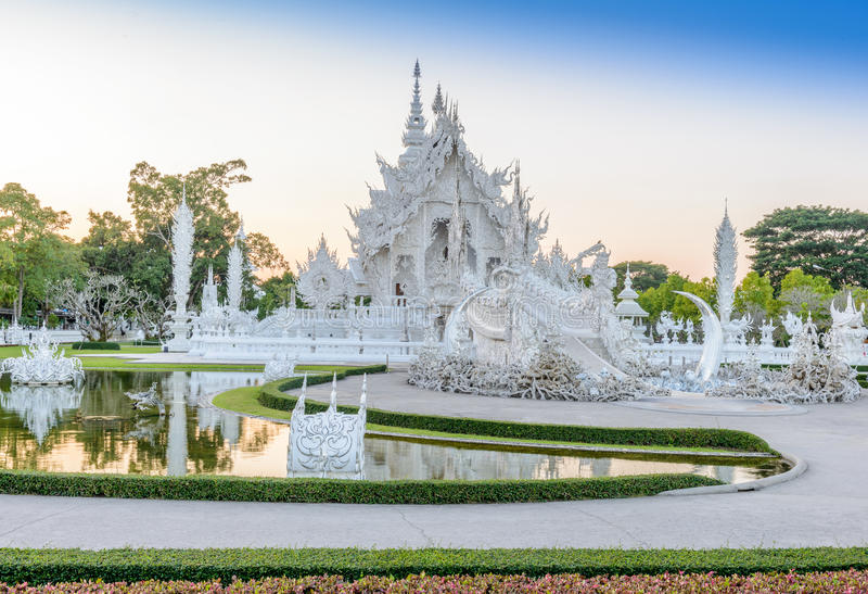 Wat Rong Khun, Chiangrai, Thailand stock foto's