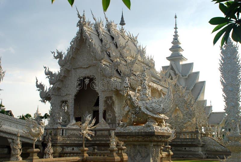 Wat Rong Khun ou templo branco. Chiang Rai, Tailândia imagens de stock