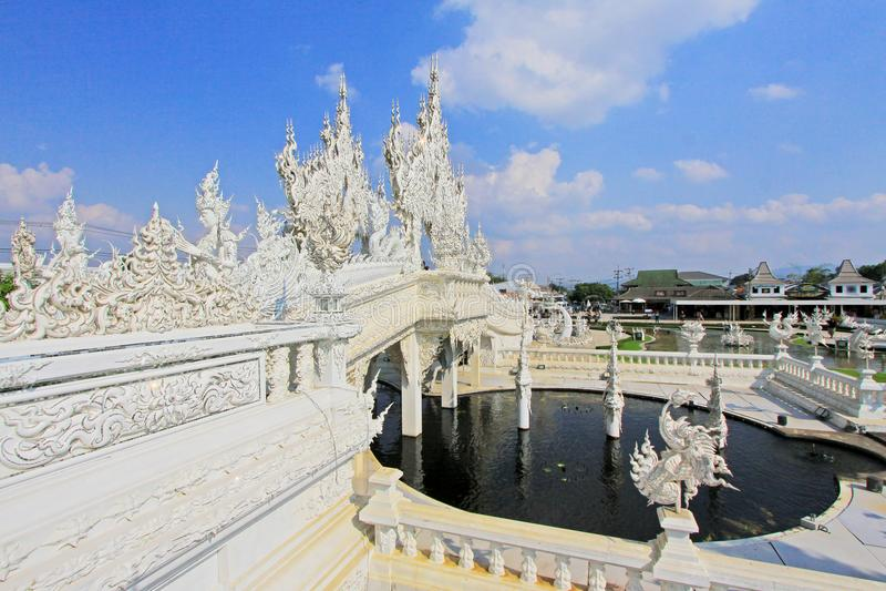 Wat Rong Khun White Temple, Chiang Rai, Thailand royalty free stock photos