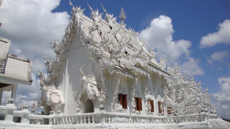 Wat Rong Khun Tempel stockfotografie