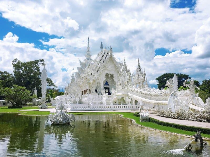 Wat Rong Khun, temple blanc, Chaingrai, Thaïlande, Asie image libre de droits