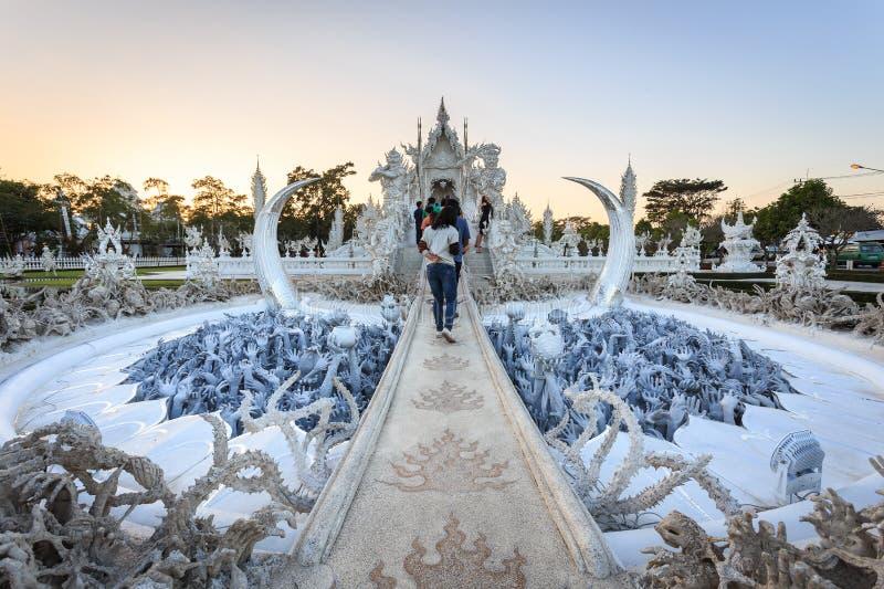 Wat Rong Khun, Thailand stockfotos