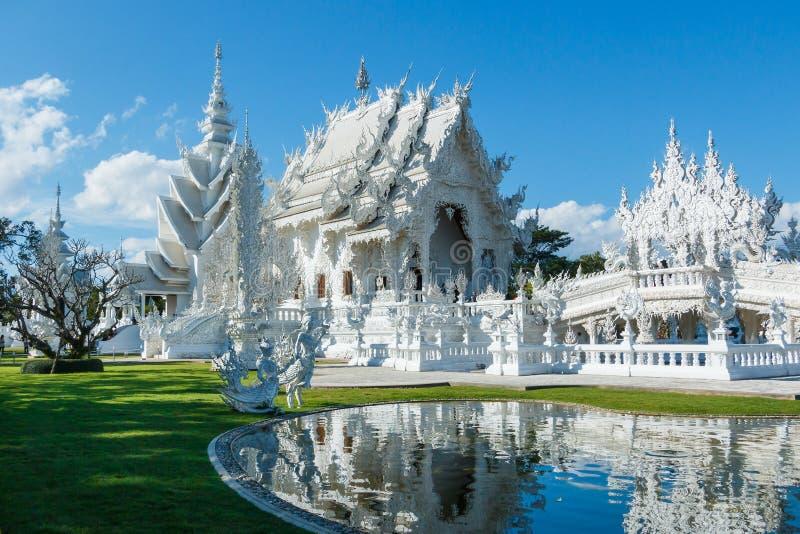 Wat Rong Khun Thailand tempel arkivfoto