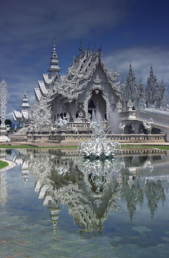 Download Wat Rong Khun White Temple stock image. Image of temple - 10478281
